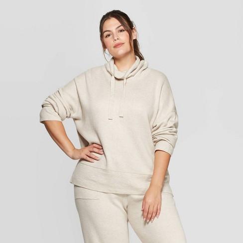 Women's Plus Size Long Sleeve Mock Turtleneck Sweater - Universal Thread™ - image 1 of 3
