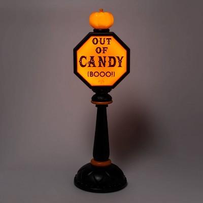 "42"" Lit Trick or Treat Stop Sign Halloween Decorative Scene Prop - Hyde & EEK! Boutique™"