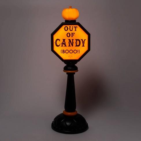 "42"" Lit Trick or Treat Stop Sign Halloween Decorative Scene Prop - Hyde & EEK! Boutique™ - image 1 of 4"