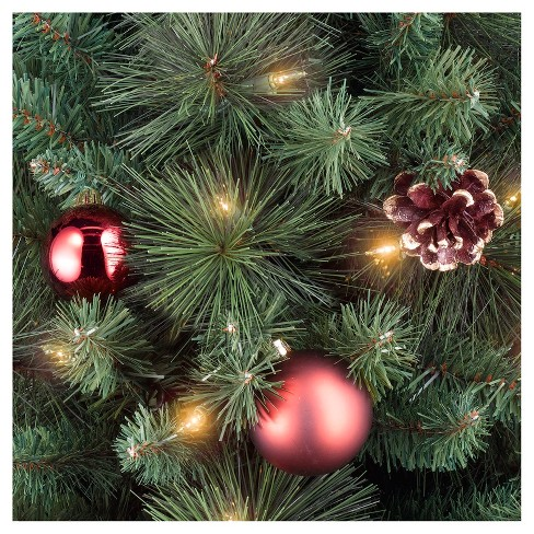 4ft prelit slim artificial christmas tree potted decorated pine clear lights wondershop target - Decorated Artificial Christmas Trees