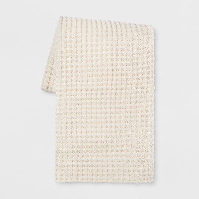 60 x50  Chenille Throw Blanket Cream - Threshold™