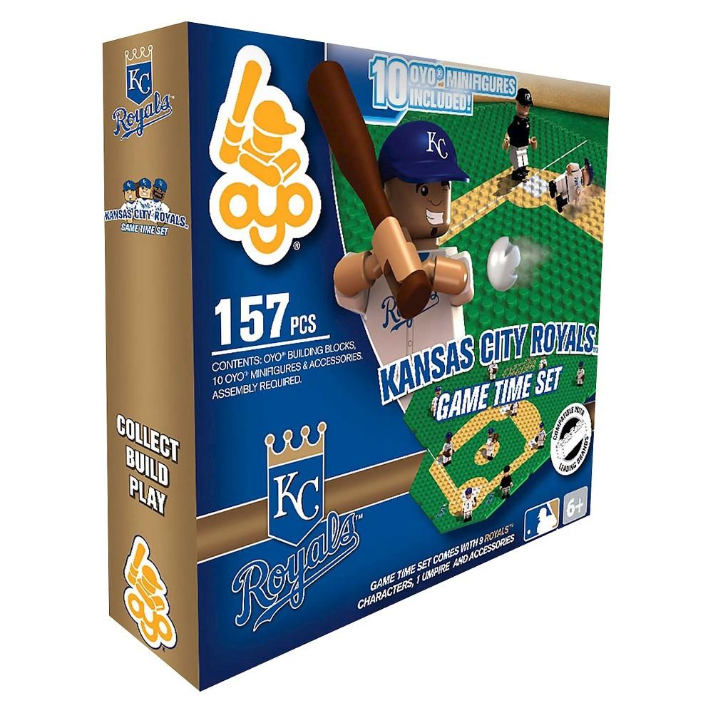 Oyo Sports Game time Set 157 Piece Building Blocks - Kansas City Royals