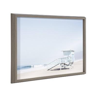 "18"" x 24"" Blake Life Guard Tower by Caroline Mint Framed Printed Art Gray - Kate & Laurel All Things Decor"