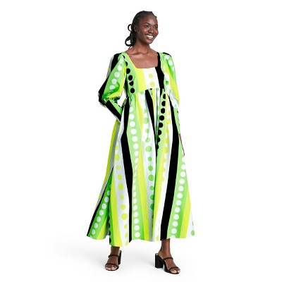 Polka Dot Long Sleeve Dress - Christopher John Rogers for Target Green/Yellow