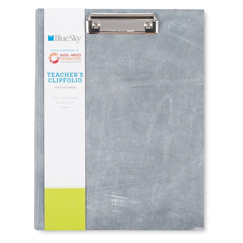 Teacher's Clipfolio Grey - Blue Sky, Gray