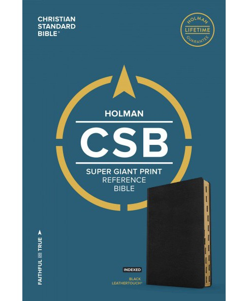 Holy Bible : Christian Standard Bible, Black Leathertouch, Super Giant Print Reference Bible (Indexed) - image 1 of 1