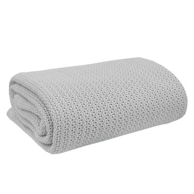 Living Textiles Baby Organic Celullar Baby Blanket - Gray