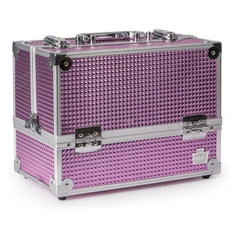 Caboodles Stylist 6-Tray Train Case Pink Bubble - image 1 of 3