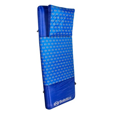 Swim Central 75-Inch Inflatable Blue Swirled Air Mattress Swimming Float