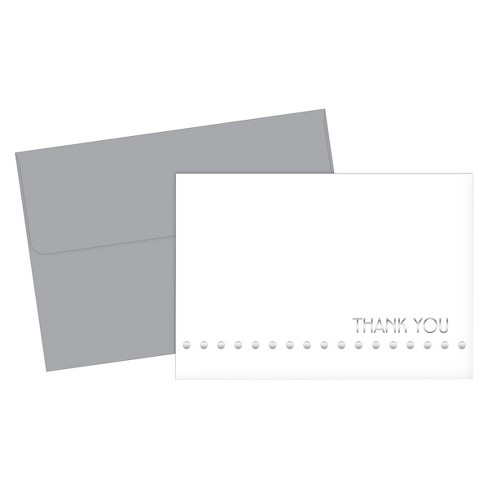Silver Thank You Cards - 24ct - image 1 of 3