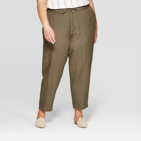 a11555f9f5f Women s Plus Size Linen Pants - Ava   Viv™   Target