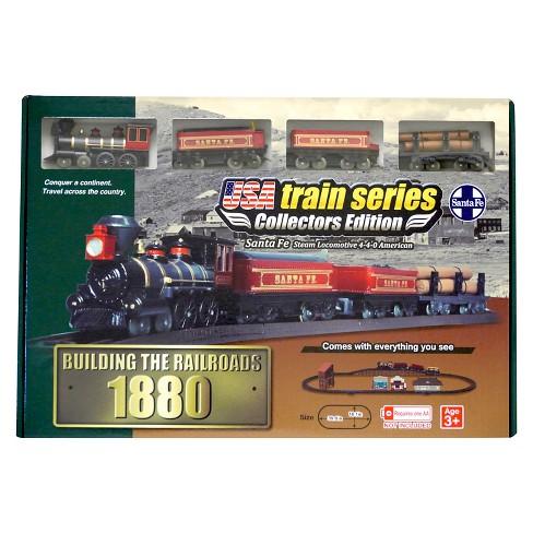 LEC 1880 Santa Fe Steam Locomotive 4-4-0 American Battery Operated Train Set - 23pc - image 1 of 4