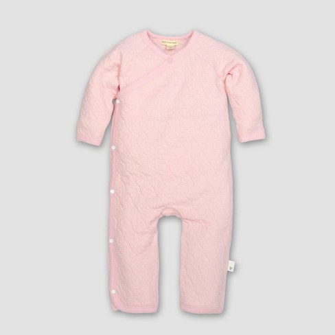 Burt's Bees Baby® Girls' Organic Cotton Quilted Bee Kimono Coverall - Blossom - image 1 of 2