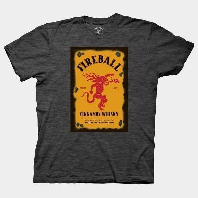 Men's Fire Ball Logo Short Sleeve Graphic T-Shirt - Gray M