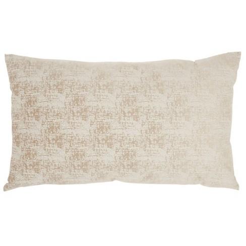 "14""x24"" Life Styles Erased Velvet Throw Pillow Beige - Mina Victory - image 1 of 4"