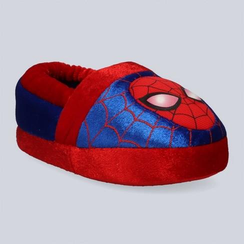 Toddler Boys' Marvel Spider-Man Lighted-up Slide Slippers - Red - image 1 of 4