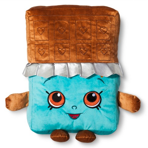 "Chocolate Throw Pillow (14""x11"") Blue - Shopkins® - image 1 of 1"