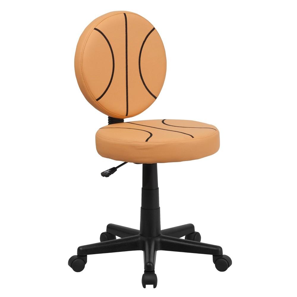 Image of Basketball Task Chair - Flash Furniture, Orange