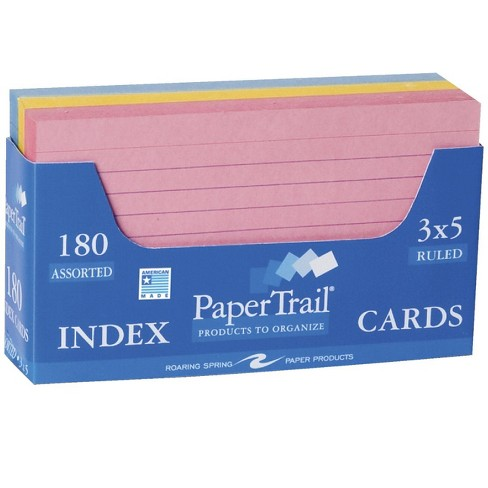 Roaring Spring Dispenser Tray Ruled Index Cards, 3 x 5 Inches, Assorted Colors, pk of 240 - image 1 of 1
