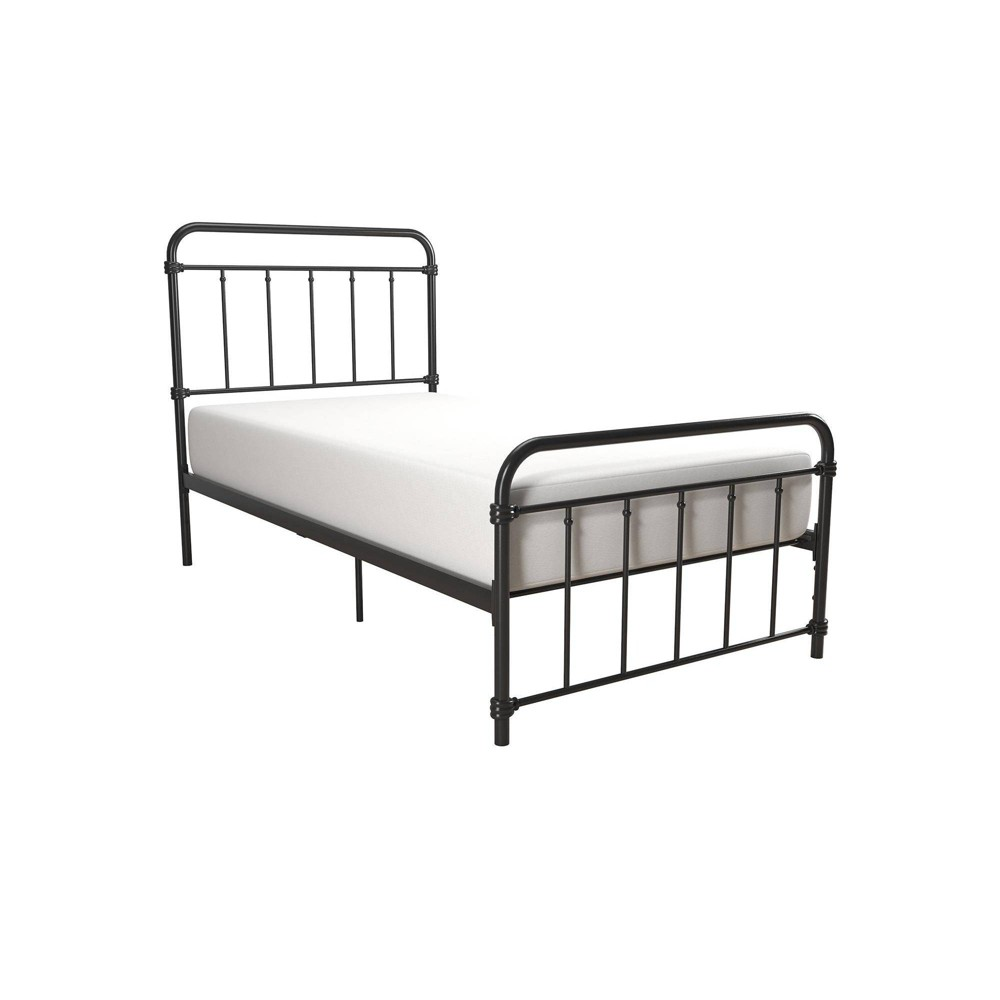 Twin Waldorf Metal Bed Black - Room & Joy