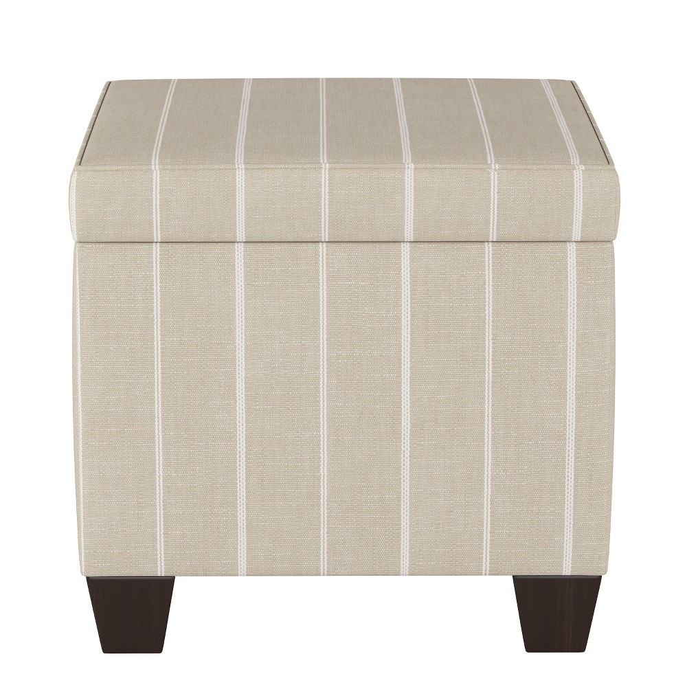 Storage Ottomans Cream Stripe - Threshold