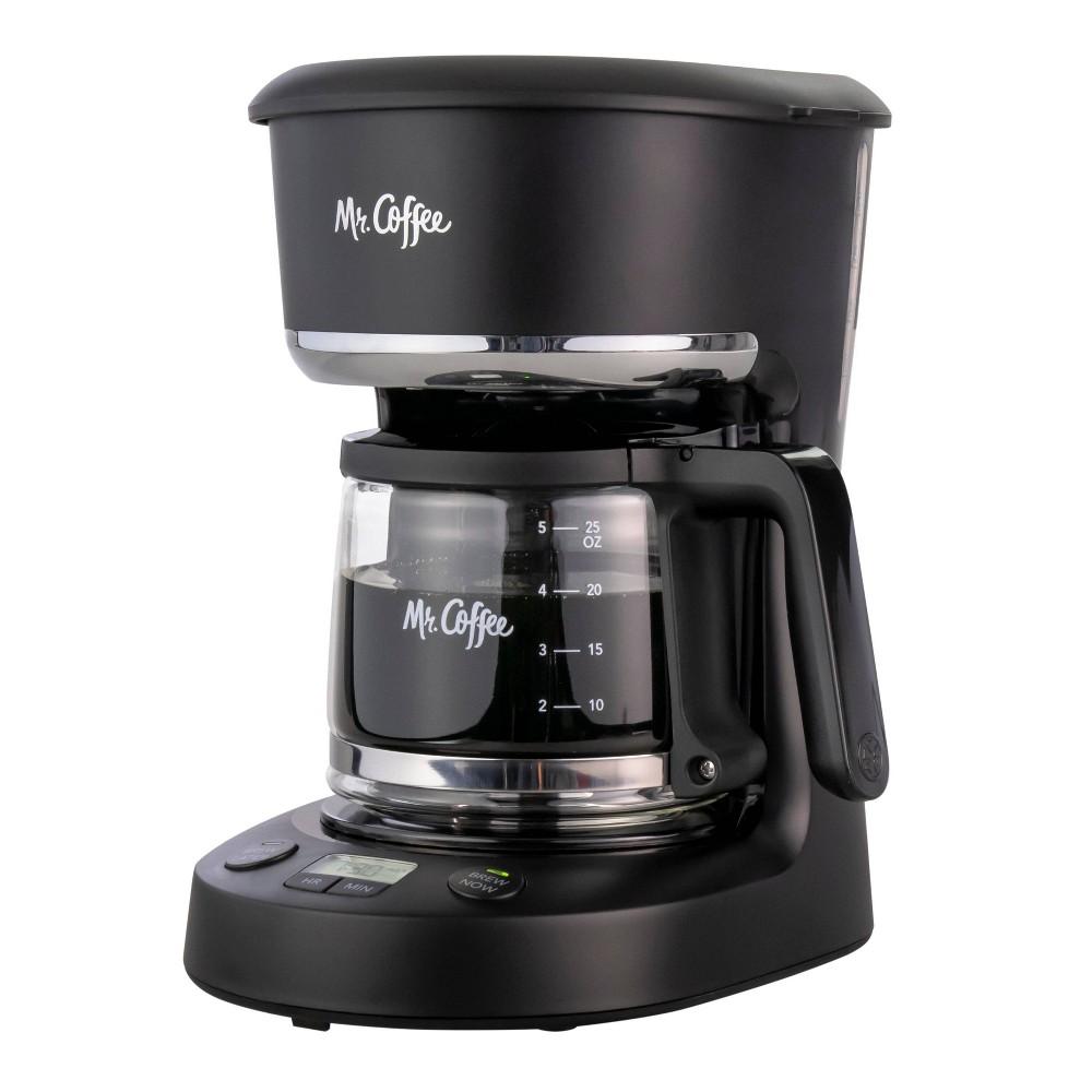 Mr Coffee 5 Cup Programmable Coffee Maker Black
