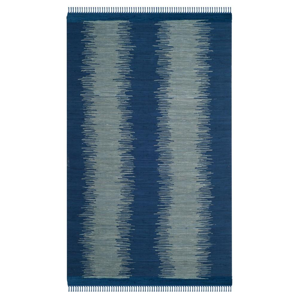 Navy (Blue) Geometric Flatweave Woven Area Rug 5'X8' - Safavieh