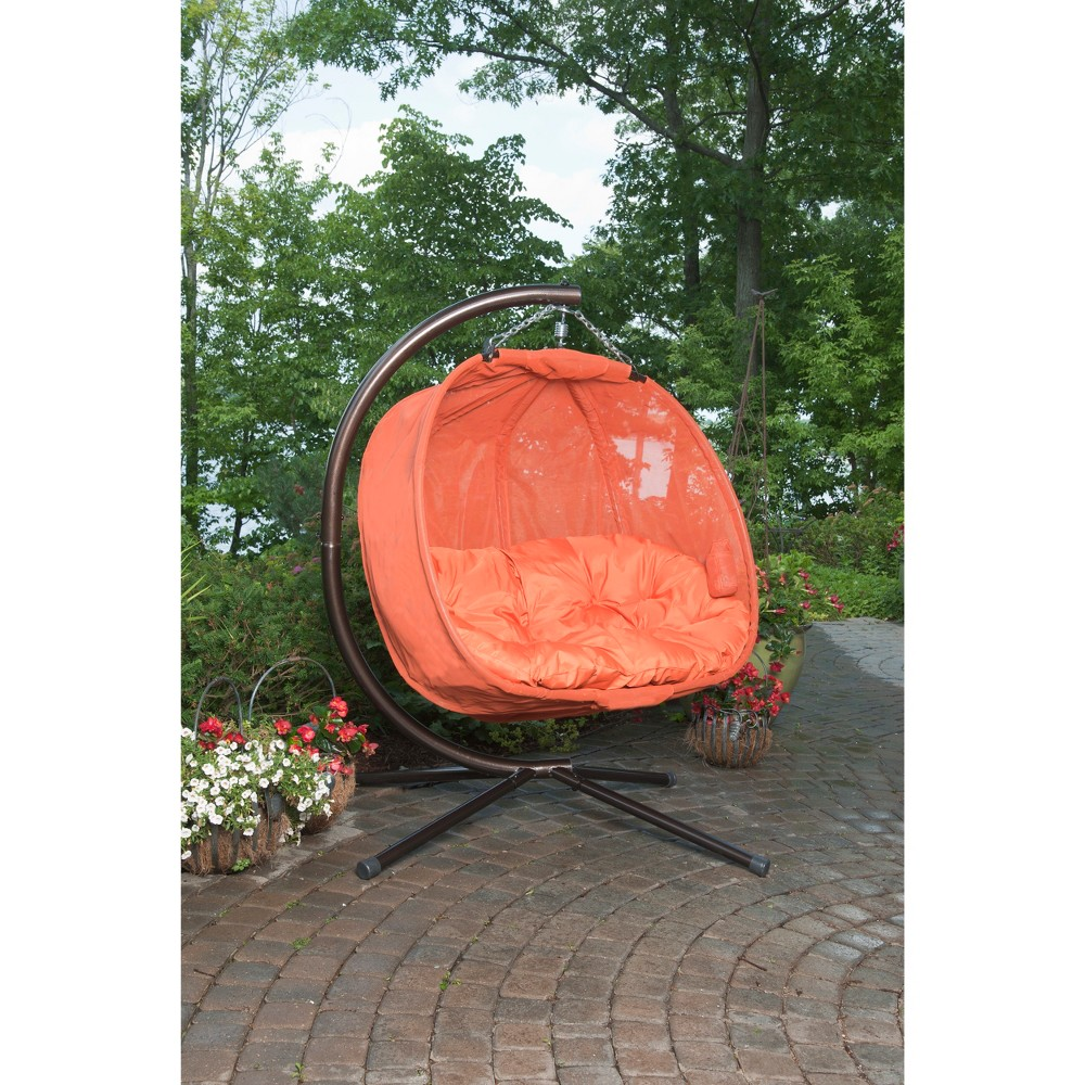 Image of Textilene Hanging Pumpkin Chair - Orange - Flowerhouse