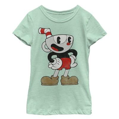 Girl's Cuphead Happy Pose T-Shirt