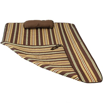Polyester Quilted Hammock Pad and Pillow - Desert Stripe - Sunnydaze Decor