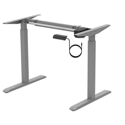 Monoprice Height Adjustable Sit-Stand Riser Table Desk Frame - Grey With Electric Single Motor, Compatible With Desktops From 39 Inches Up To 63