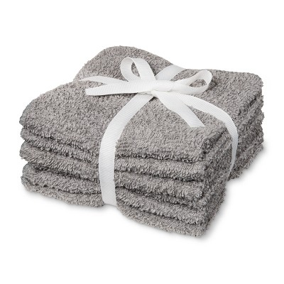 6pk Washcloth Gray Mist - Room Essentials™