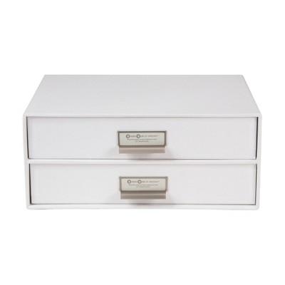 Birger 2 Drawer File Box White - Bigso Box of Sweden