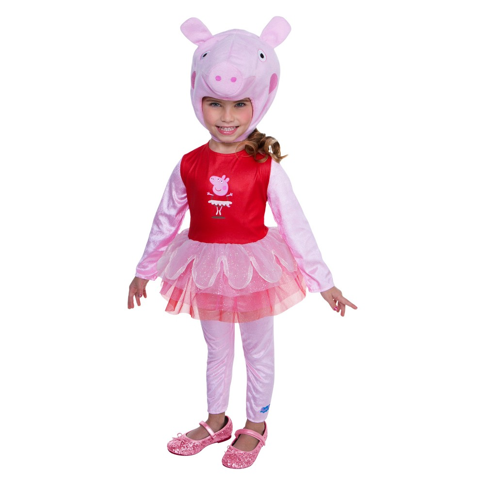 Toddler Girls' Peppa Pig Ballerina Halloween Costume 4T, Size: 3T-4T, Multicolored
