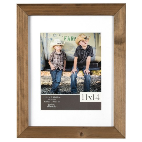 Single Image Frame Wood Gallery With White Mat 8x10 Rustic Target
