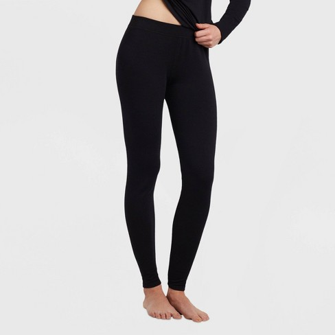 Warm Essentials by Cuddl Duds Women's Everyday Comfort Thermal Leggings - Black - image 1 of 2