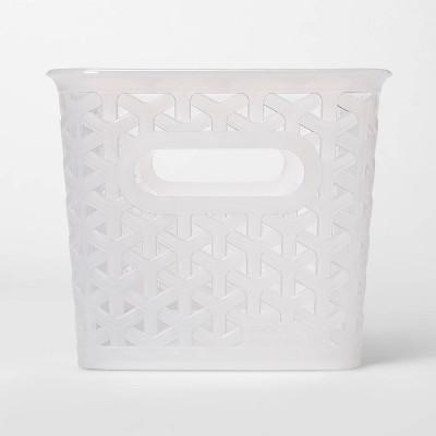 12 Medium Y Weave Rectangle Decorative Bin Clear - Room Essentials™