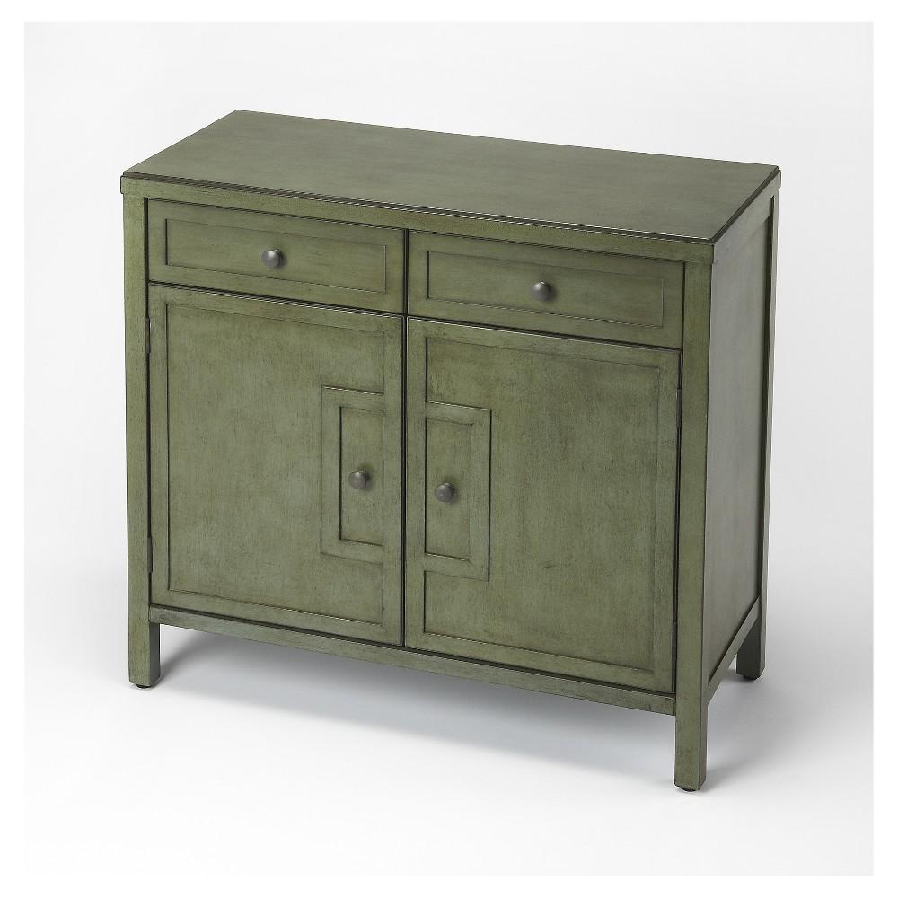 Imperial Green Console Cabinet - Butler Loft - Butler Specialty, Dark Green