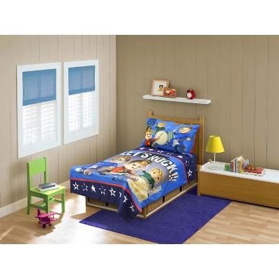 4pc Toddler Bedding Set Let's Rock Toddler Comforter And Sheets - Alvin And The Chipmunks.. : Target