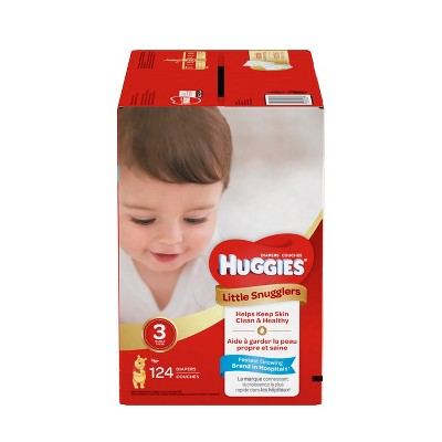 Huggies Little Snugglers Diapers - Size 3 (124ct)