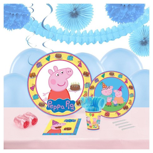 Peppa Pig 16 Guest Party Pk with Decoration Kit - image 1 of 1