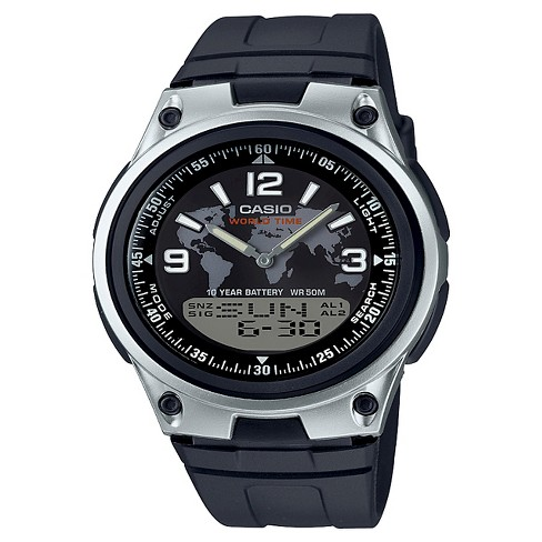 Casio Men's Analog-Digital World Time Watch, Black Resin Strap - AW80-1A2V - image 1 of 1