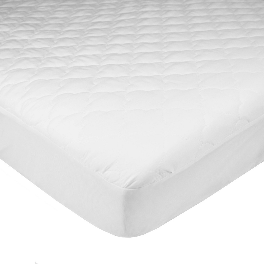 Tl Care Mini Crib Size Waterproof Fitted Quilted Mattress Pad Portable Cover