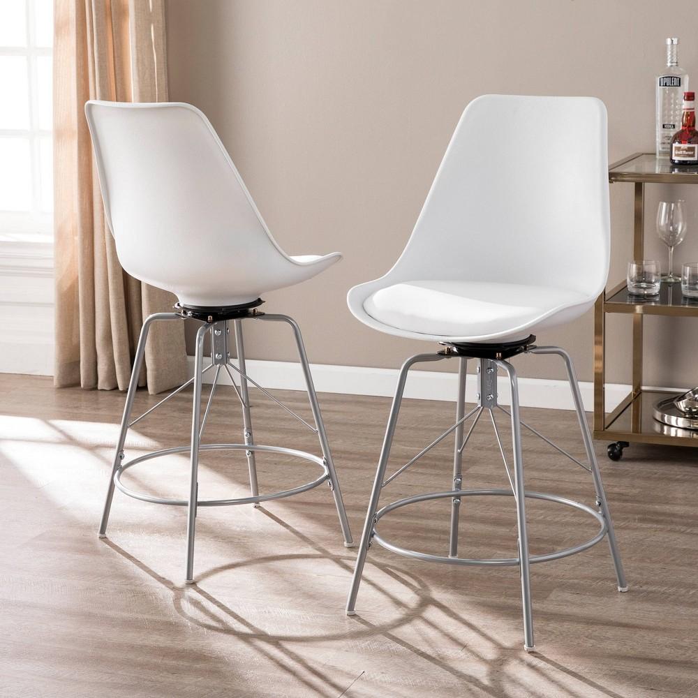 Image of 2pc Reni Counter Chairs White - Aiden Lane