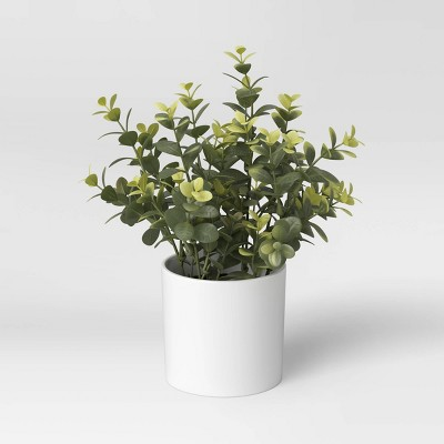 """9"""" x 6"""" Artificial Boxwood Plant in Pot - Threshold™"""