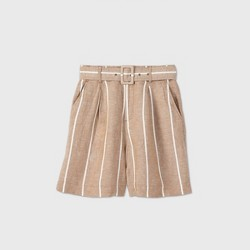 Women's Belted High-Rise Shorts - A New Day™