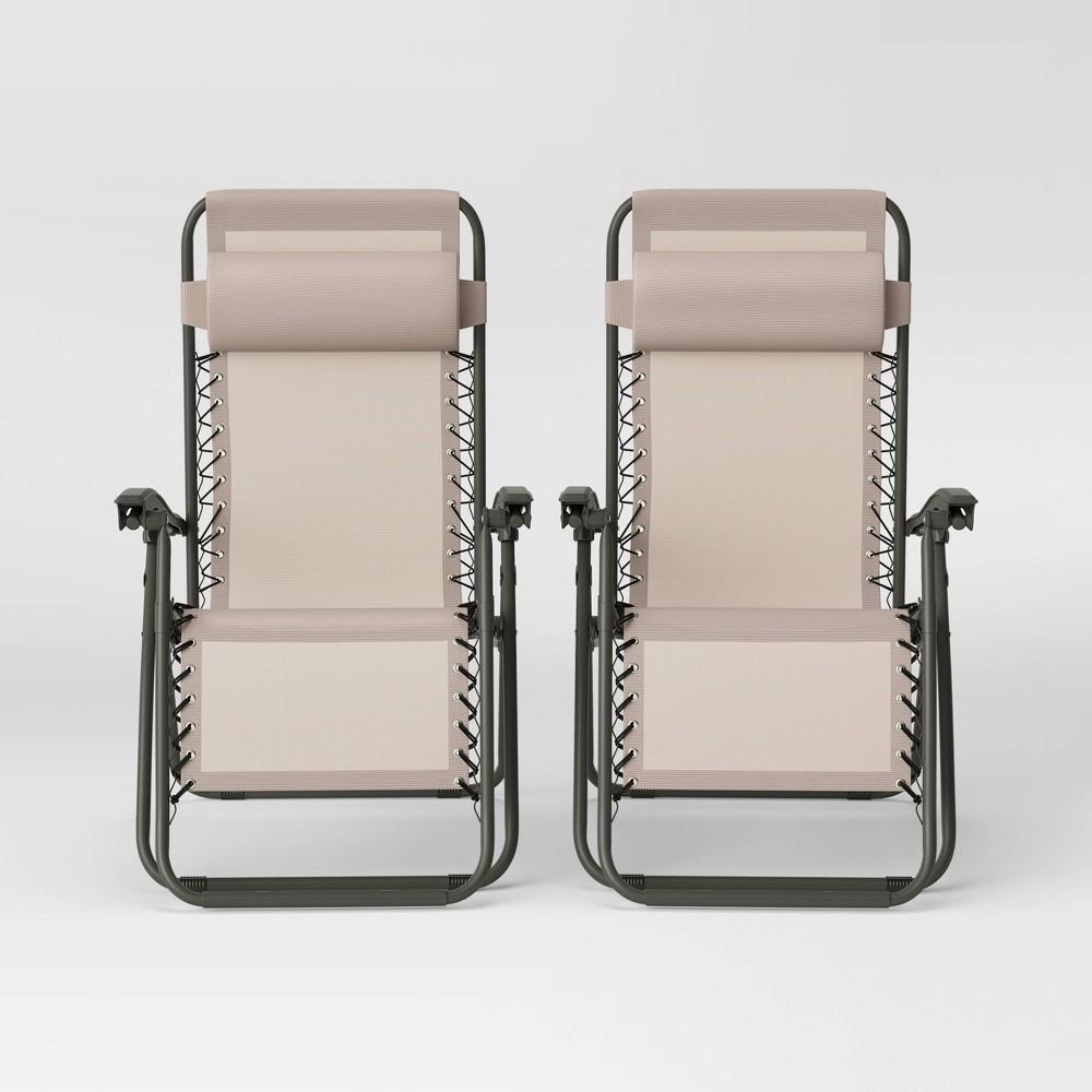Image of 2pk Zero Gravity Loungers Tan - Room Essentials