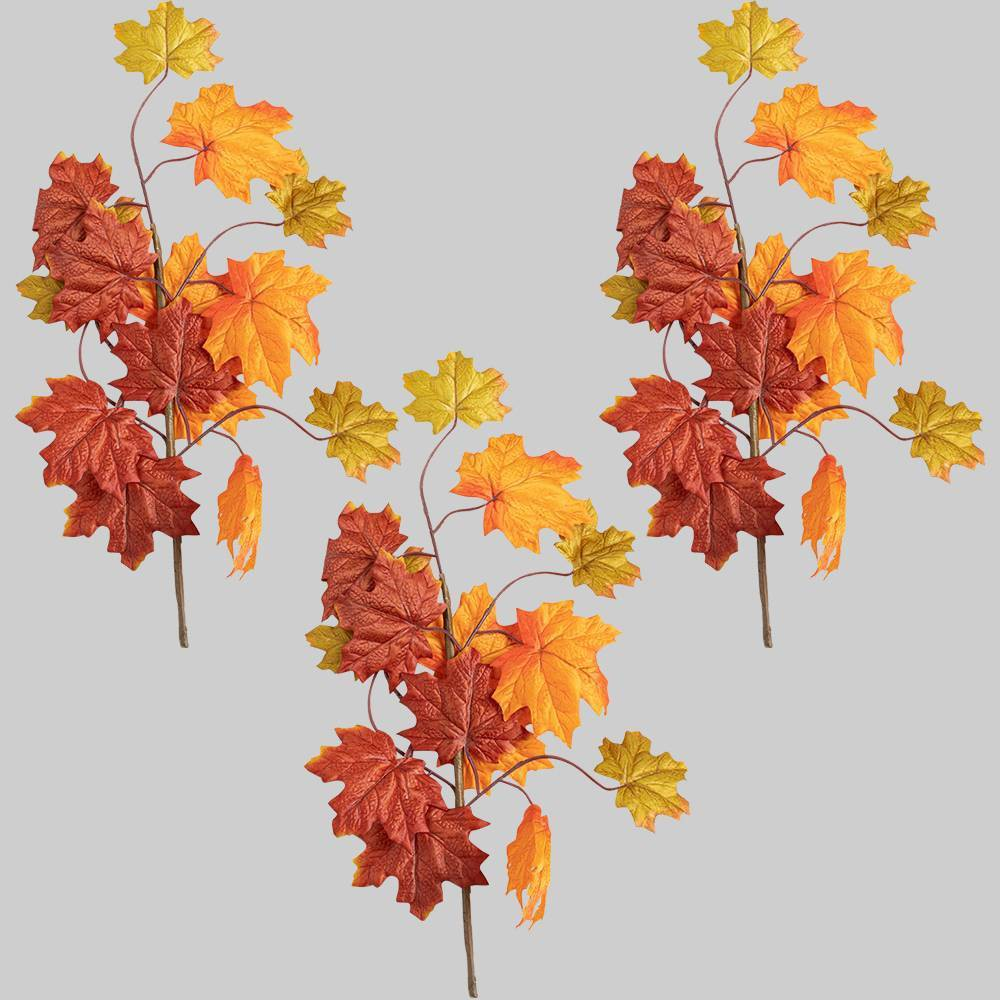 3pk Faux Picks Orange Leaves - Bullseye's Playground was $9.0 now $4.5 (50.0% off)