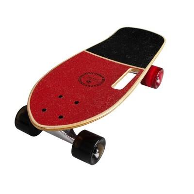 """Kryptonics Stubby 19"""" Cruiser Skateboard - Red"""