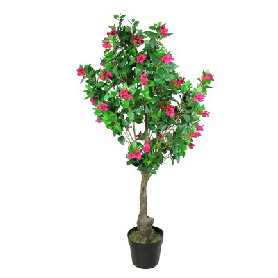 """Northlight 72"""" Flowering Bougainvillea Artificial Potted Tree - Green/Pink"""